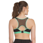 Padded Sports Bra In Black with Green Trims & Broad Elastic