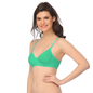 Padded T-Shirt Bra In Sea Green With Detachable Straps