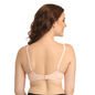 Peach Cotton Non-Wired Non-Padded Plus Size Bra With U Back