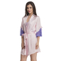 Satin & Lace Nightslip And Robe - Pink & Purple