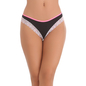 Cotton Spandex Bikini In Black With Contrast Lacy Trims