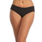 Cotton Bikini With Mid Waist Coverage - Black