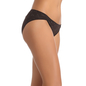 Cotton Spandex Bikini With Mid Waist Coverage - Black