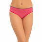Cotton Mid Waist Bikini With Contrast Elastic - Pink