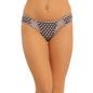Cotton Mid Waist Bikini With Lace Sides - Blue