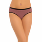 Cotton Mid Waist Bikini With Contrast Waistband - Black