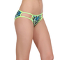 Cotton Mid Waist Bikini With 2 String Design - Green