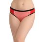 Cotton Mid Waist Colour Block Bikini - Pink