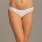 Mid Waist Bikini With Lace Wings - White