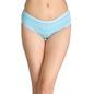 Cotton Striped Mid-Waist Bikini - Blue