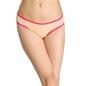 Cotton Mid-Waist Bikini with Powernet Side Wings - Orange