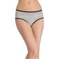Cotton Printed High-Waist Hipster with Contrast Trimmed Elastic - White