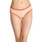 Cotton Mid-Waist Bikini with Contrast Elastic Band - Orange