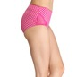 Polka Print High Waist Hipster with Lacy Side Wings - Pink