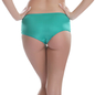 Polyamide & Lace Hipster In Green