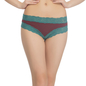 Maroon Hipster With Contrast Lace at Waist & Leg