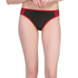 Polyamide & Lacy Bikin Brief In Black