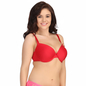 Plus Size Plunge Bra In Red With Padded Demi Cups