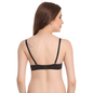 Push Up Balconette Bra In Black With Detachable Straps