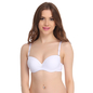 Push Up Balconette Bra In White With Detachable Straps
