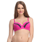 Push Up Bra In Pink With Detachable Straps & Panelled Cups