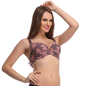 Full Cup Padded Bra In Brown With Detachable Straps