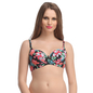 Floral Push Up Bra In Black With Detachable Straps