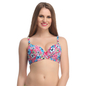 Floral Push Up Bra In Pink With Detachable Straps