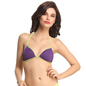 Polyamide Front Open Bra In Purple With Halter Straps