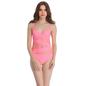 Polyamide & Powernet Monokini Swimsuit In Pink
