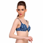 Polyamide Push-Up Bra In Aqua With Detachable Straps