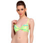 Neon Green Push Up Bra In With Plunge Neckline & Detachable Straps