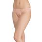 Peach Striped Bikini With Side Lacing