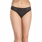 Black Striped Bikini With Side Lacing