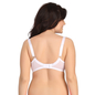 Plus Size Padded Bra In White With Demi Cups