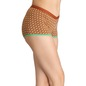 Printed High Waist Boyshorts with Contrast Elastic Bands - Brown
