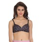 Printed Light Padded Wirefree Demi Cup T-Shirt Bra - Black