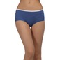 Printed Mid-Waist Hipster with Contrast Trimmed Elastic - Blue