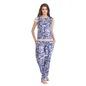 Printed Top & Pyjama Set - Blue