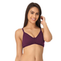 Purple Cotton Non-Padded Non-Wired Bra With U Back