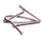 Purple Detachable Straps With Metal Heart