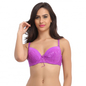 Purple Padded Lace Bra With Detachable Straps