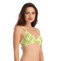 Push Up Demi Cup T-Shirt Bra With Detachable Straps - Green
