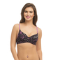 Push Up Demi Cup T-shirt With Detachable Straps - Purple