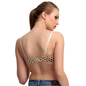 Push Up T-shirt Bra In Skin With Detachable Straps & Polka Prints