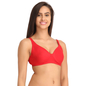 Red Cotton Non-Padded Non-Wired Bra With U Back