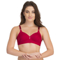 Padded Non-Wired T-Shirt Bra In Red