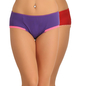 Set of 2 Cotton & Lace High Waist Hipster - Purple & Maroon