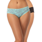 Set of 2 Cotton Mid Waist Bikinis - Green & Black