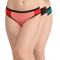 Set Of 3 Cotton Mid Waist Bikinis